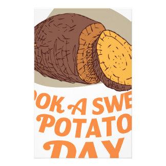 Twenty-second February - Cook a Sweet Potato Day Stationery Design