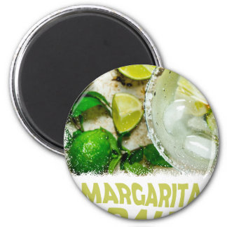 Twenty-second February - Margarita Day 6 Cm Round Magnet