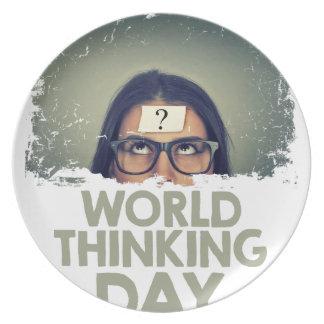 Twenty-second February - World Thinking Day Plate