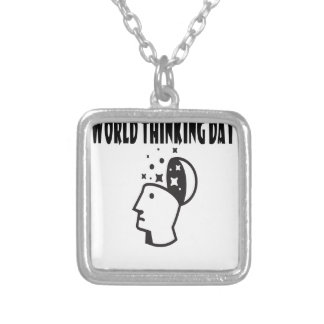 Twenty-second February - World Thinking Day Silver Plated Necklace