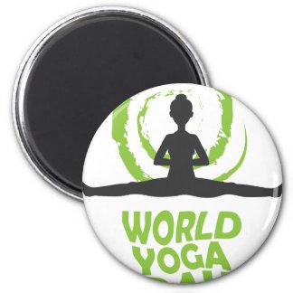 Twenty-second February - World Yoga Day Magnet
