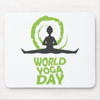 Twenty-second February - World Yoga Day Mouse Pad