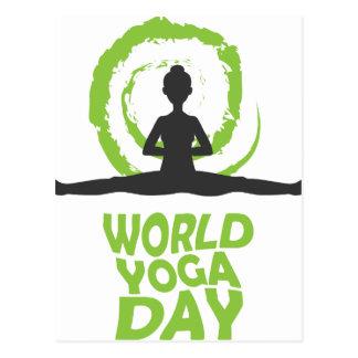 Twenty-second February - World Yoga Day Postcard