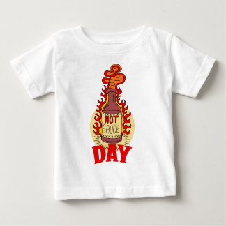 Twenty-second January - Hot Sauce Day Baby T-Shirt