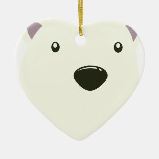 Twenty-seventh February - Polar Bear Day Ceramic Heart Decoration