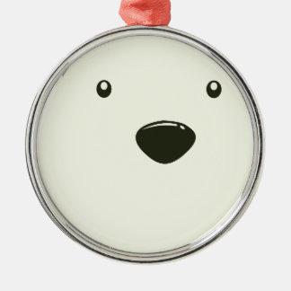 Twenty-seventh February - Polar Bear Day Silver-Colored Round Decoration