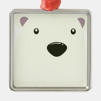 Twenty-seventh February - Polar Bear Day Silver-Colored Square Decoration