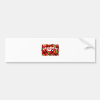 Twenty-seventh February - Strawberry Day Bumper Sticker