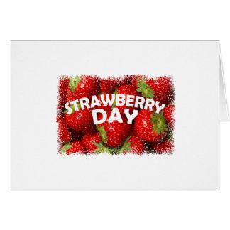 Twenty-seventh February - Strawberry Day Card