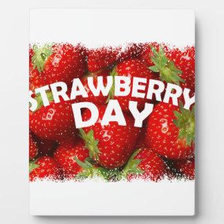 Twenty-seventh February - Strawberry Day Plaque