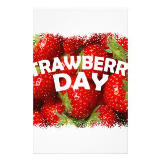 Twenty-seventh February - Strawberry Day Stationery