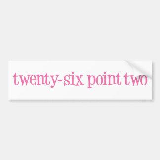 twenty-six point two bumper sticker