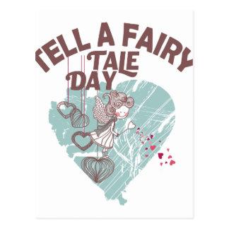 Twenty-sixth February - Tell A Fairy Tale Day Postcard