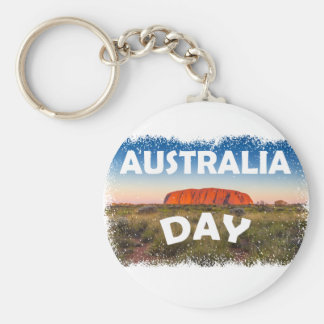 Twenty-sixth January - Australia Day Basic Round Button Key Ring