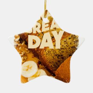 Twenty-third February - Banana Bread Day Ceramic Ornament