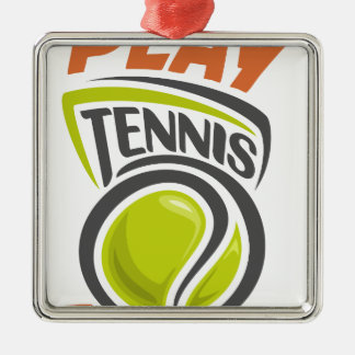 Twenty-third February - Play Tennis Day Metal Ornament