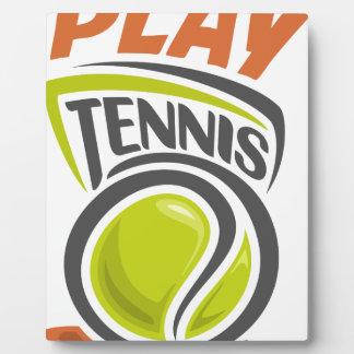 Twenty-third February - Play Tennis Day Plaque