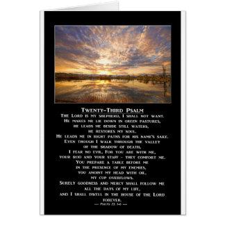 Twenty-Third Psalm Prayer Card