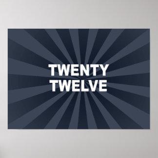 TWENTY TWELVE PRINT