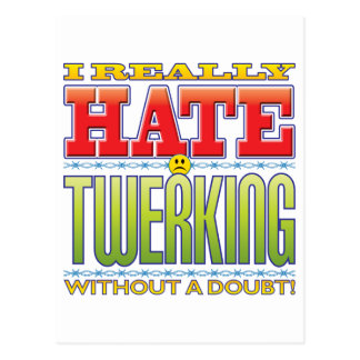 Twerking Hate Face Post Cards