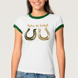 Twice as lucky St. Patrick's Day Irish Tshirts