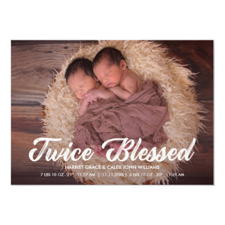 Twice Blessed | Twins Baby Photo Announcement