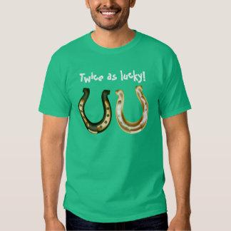 Twice s lucky Irish St. Patrick day T Shirt
