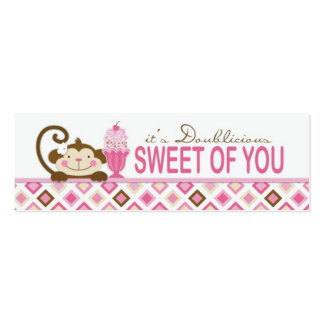 Twice the Fun GIRLS TY Skinny Gift Tag Business Card
