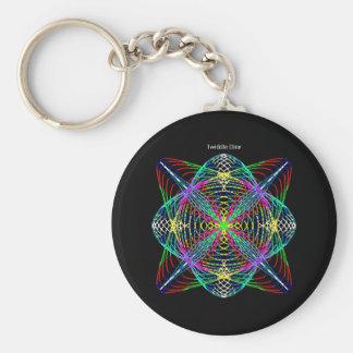 """Twiddle #10 - 2.25"""" Round Button Keychain Basic Round Button Keychain"""