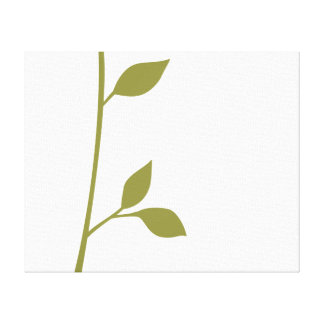 Twig and Leaf Stretched Canvas Prints