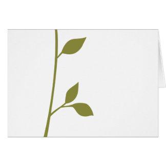 Twig and Leaf Card