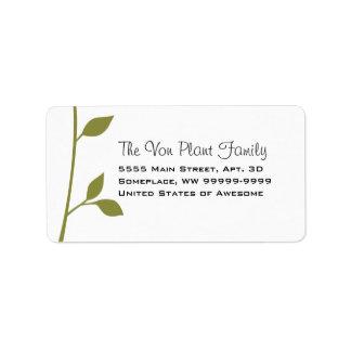 Twig and Leaf Label
