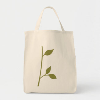 Twig and Leaf Grocery Tote Bag