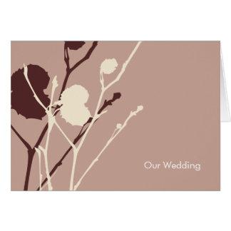 Twig CHOC MOCHA Wedding Invitation