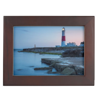 Twilight at the Portland Bill Lighthouse Keepsake Box