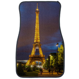 Twilight below the Eiffel Tower Car Mat