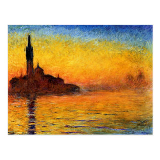 twilight by monet postcard