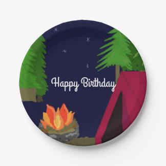 Twilight Campsite Birthday Paper Plate