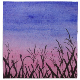 Twilight Corn Field Napkin