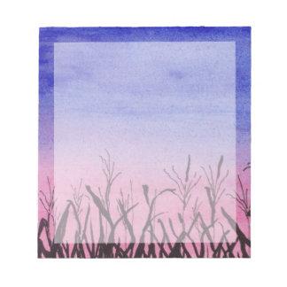 Twilight Corn Field Notepad