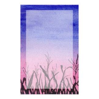 Twilight Corn Field Stationery