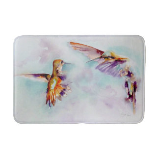 Twilight Dancers Hummingbird Print Bath Mat