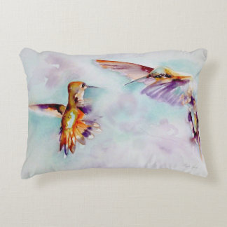 Twilight Dancers Hummingbird Print Decorative Cushion