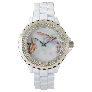 Twilight Dancers Hummingbird Print Watch