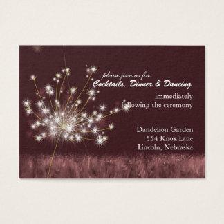 Twilight Dandelion Wedding Reception Business Card