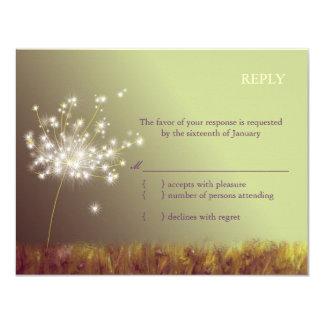 Twilight Dandelion Wedding RSVP Inserts (4.25x5.5) Announcements