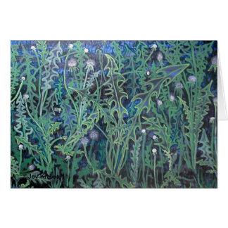 Twilight Dandelions Card