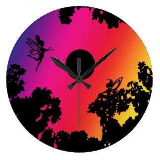 Twilight Faeries Large Clock