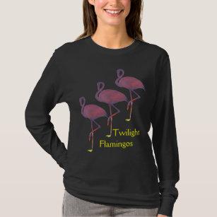 Twilight Flamingos Stylised Sunset Shirt