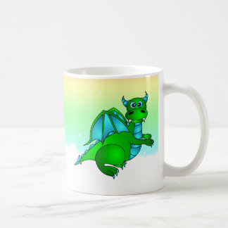 Twilight Flight - Cute Green & Blue Dragon Mug